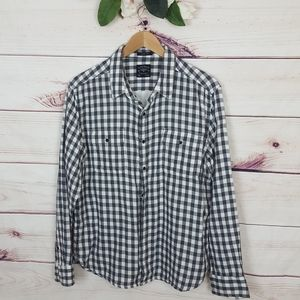 Lucky Brand Checkered Plaid Buttoned Down